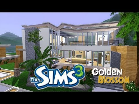 The Sims 3 House Designs Golden Blossom Youtube