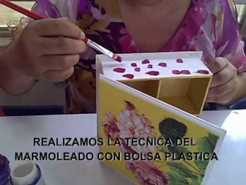 Manualidades caja marmoleada youtube - Caja madera manualidades ...