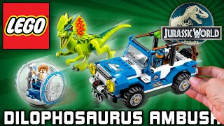 Lego Jurassic World Set Dilophosaurus Ambush 75916 Gyrosphere Play Time-Lapse Speed Build Brinquedo
