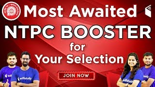 RRB NTPC 2019 | NTPC Booster for Your Selection | 10% OFF | Join Now