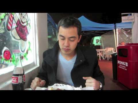Pink's Hot Dogs Hollywood CA- BenjiManTV