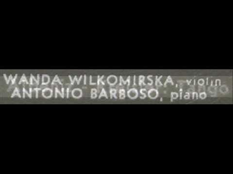 Albéniz/Kreisler / Wanda Wilkomirska / Antonio Barbosa, 1971: Tango