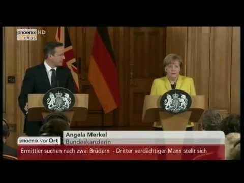 Terroranschlag in Paris: Statement von David Cameron und Angela Merkel am 07.01.2015