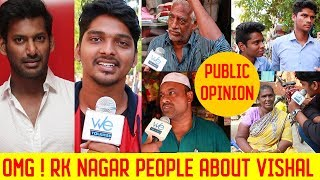 RK Nagar People about Vishal  - Public opinion | Shocking Response | Vishal | RK Nagar elections
