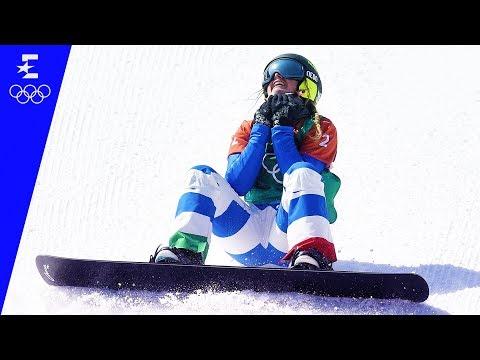 Snowboard | Ladies' Snowboard Cross Highlights | Pyeongchang 2018 | Eurosport