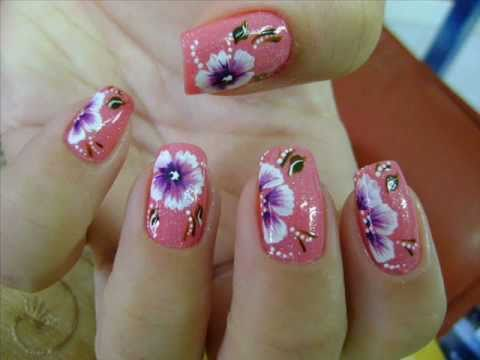 Fotos de Unhas decoradas com flores