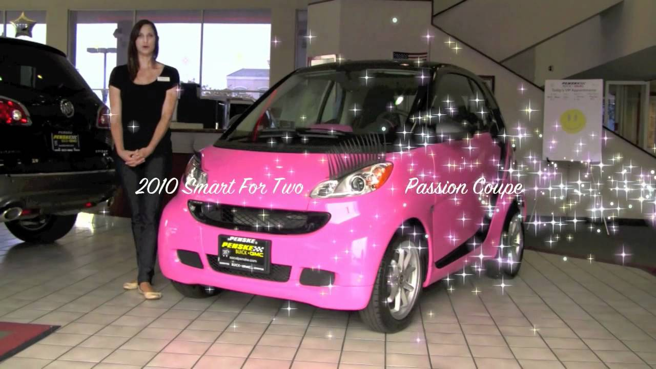 2010 Pink Passion Coupe With Eye Lashes Amp Bedazzled Smart Car Youtube