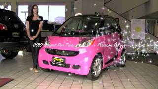2010 Pink Passion Coupe with EYE LASHES & BEDAZZLED Smart Car!!!