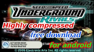 need for speed underground rivals pc free download