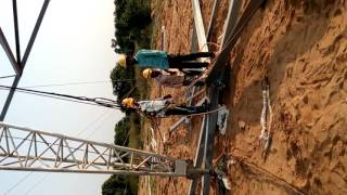 Zin pole erection in 765 kV line