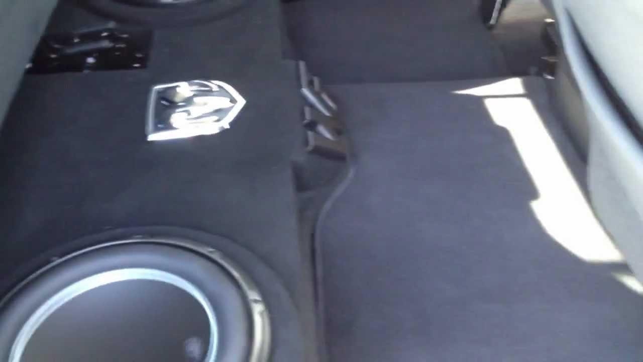 2012 Dodge Ram Jl Audio 12 Quot W6v3 Youtube
