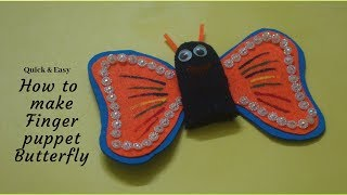 Butterfly puppet craft for kids#SCHOOL CRAFT#finger puppet
