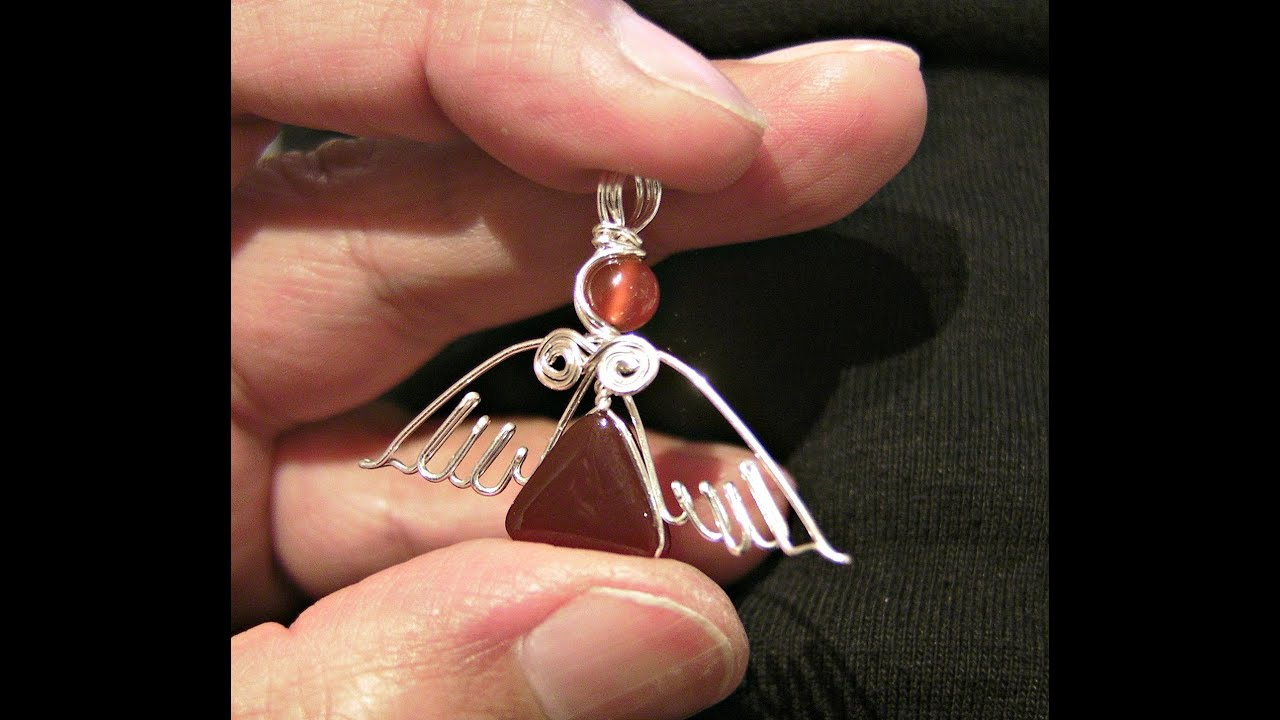 {DIY} Angel Pendant II - How to make a silver wire wrapped ...