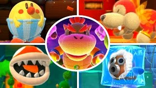 Yoshi's Woolly World - All Bosses (No Damage)