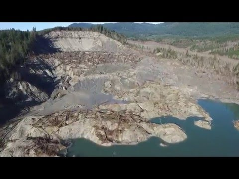 OSO Washington Landslide aerial footage inspire 1 (drone)
