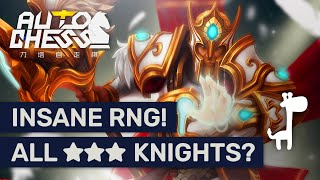 ★★★ KNIGHTS EVERYWHERE!? Dota Auto Chess EPIC ELVES VS RNG KNIGHTS!