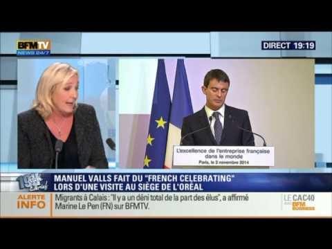 2014 novembre 03 BFM TV Marine Le Pen