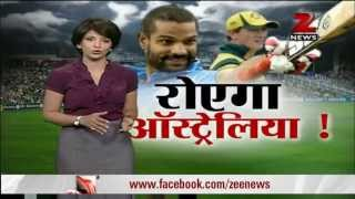 Shikhar Dhawan on fire against Australia