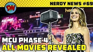 MCU Phase 4 Revealed, Female Thor, Fantastic Four, X-Men | Nerdy News #69 (Comic-Con Special)
