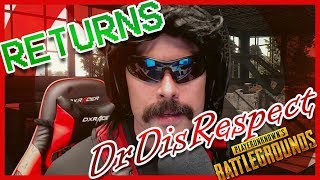 DrDisRespect RETURNS!! First PUBG Game & Win | LIVE Stream 🔴
