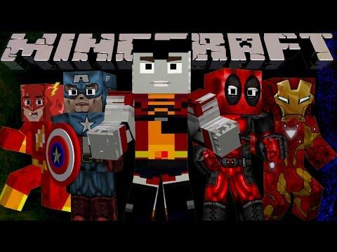 СТАНЬТЕ КЕМ УГОДНО В MINECRAFT! 👽👽Обзор мода Minecraft Superheroes