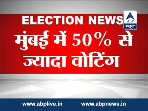 over 50 per cent voter turnout in Mumbai