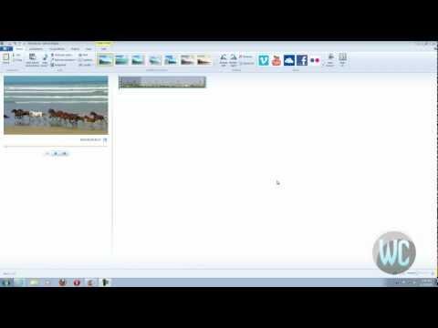 Windows Live Movie Maker 2012 - Converting Video to Audio files
