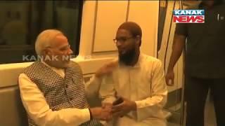 PM Narendra Modi Travels By Metro To Attend An Event In Delhi