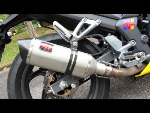 SYM T2 SE with Amuro FM1 Titanium Slip-On Exhaust System Installed