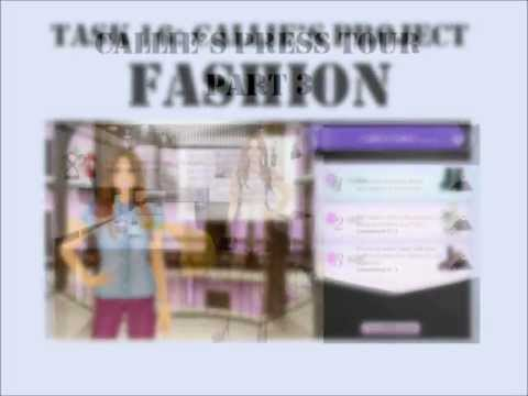 Stardoll Academy Walkthrough Task 16: Callie's Project FASHION: Callie's Press Tour Part 3
