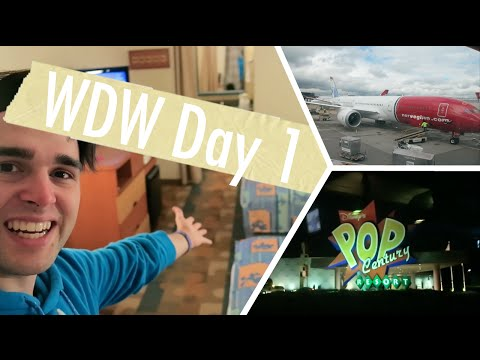 Walt Disney World April 2016 | Day 1 Vlog | Norwegian Airlines Travel and Pop Century