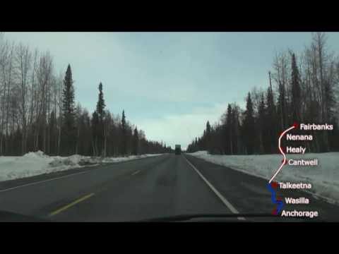 Alaska - Anchorage to Fairbanks  -Time Lapse 360 Miles in 7 Minutes