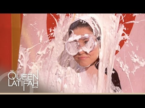 Rosario Dawson Gets Pied in the Face on The Queen Latifah Show
