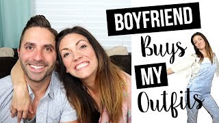 BOYFRIEND BUYS GIRLFRIEND'S OUTFITS // Shopping Challenge