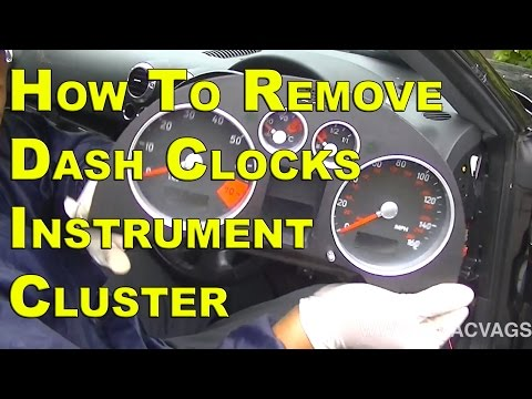 Audi TT Dash Clock Instrument Cluster Removal .......... SIMPLE EASY STEPS
