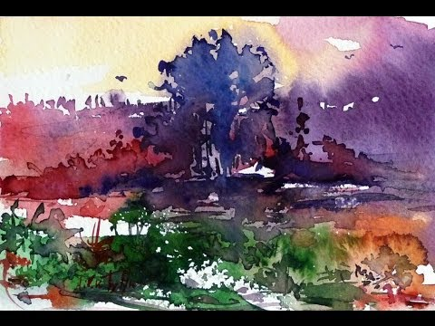 Free download foggy water color