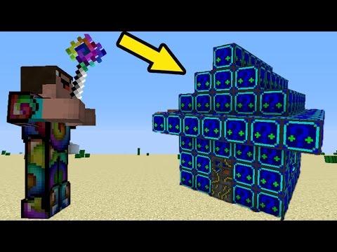 МОД НА НУБ против 1000 НОЧНЫХ ЛАКИ БЛОКОВ - Троллинг НУБА в РАЮ Minecraft Серия 02