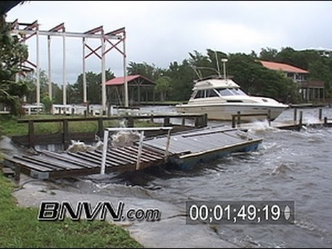 6/13/2006 Tropical Storm Alberto Video From Steinhatchee Florida
