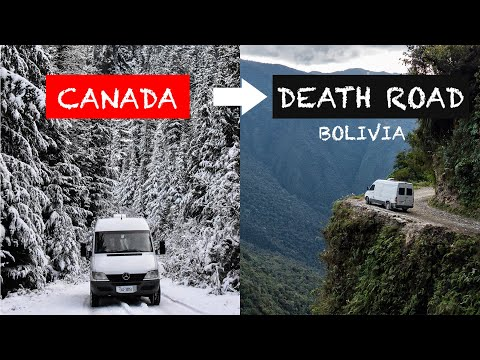 We DROVE our van from CANADA down BOLIVIA'S DEATH ROAD ☠️