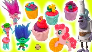 Branch Scared Of Chef Bergen At Trolls Poppy + My Little Pony Playdoh Cupcake Party