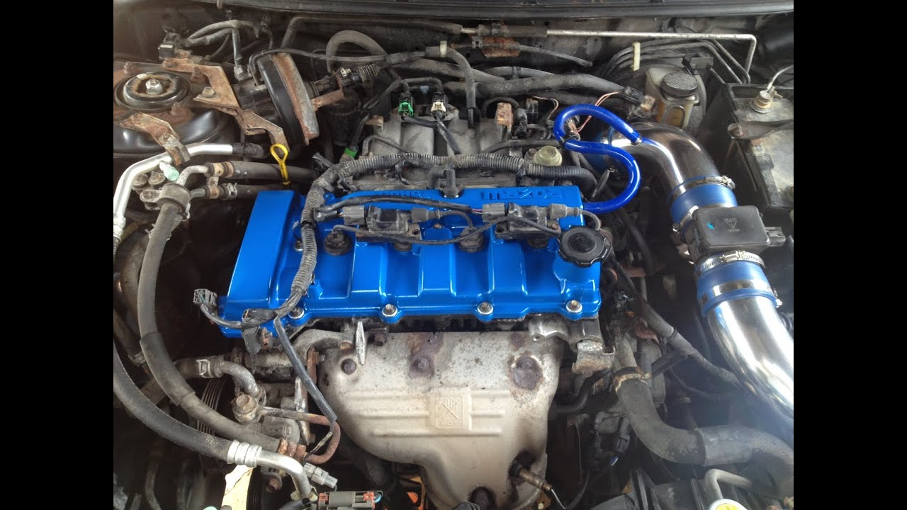 Mazda Protege Timing Belt Water Pump How-To - YouTube