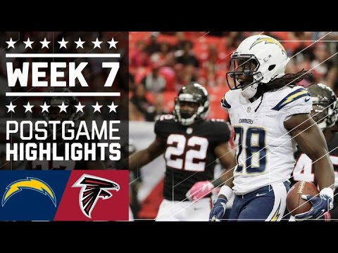 Chargers Vs Falcons Nfl Week 7 Game Highlights