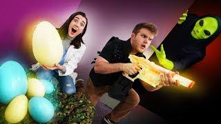 NERF Alien Invasion Escape Challenge!