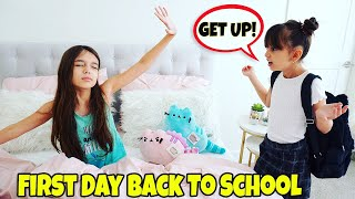 GRWM First Day of School 2019 Morning Routine - NEW SCHOOL! | TwoSistersToyStyle