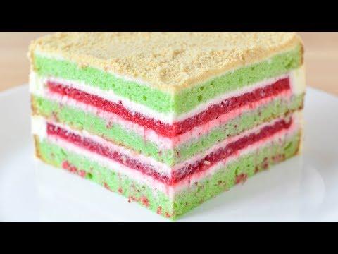 ТОРТ Клубника Фисташка Белый шоколад ☆ Strawberry Pistachio White chocolate CAKE