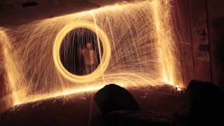 Wire wool fire poi photography for the craic