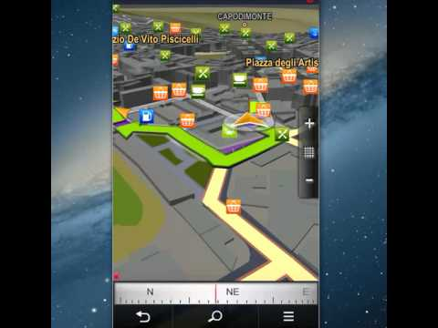 Video prova di Sygic, navigatore per Android