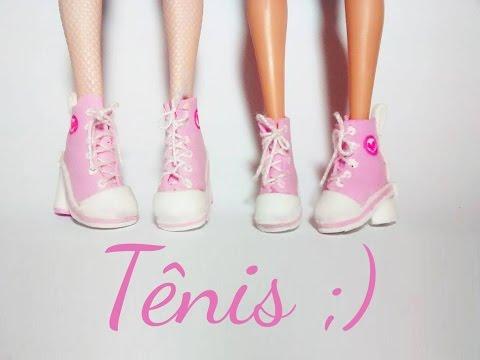 Como Fazer Sapato Para Boneca #4: Tenis Para Barbie MH E EAH