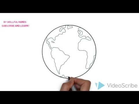 Видео как нарисовать землю карандашом поэтапно