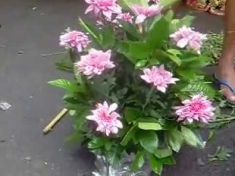 How To Make A Bouquet Of Flowers From Dangwa Manila Youtube